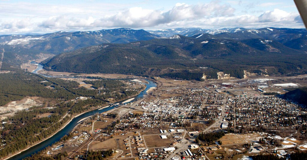 Aerial view of Libby