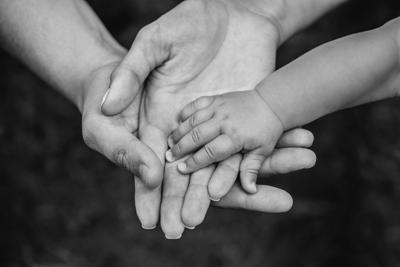 Family of hands stockimage