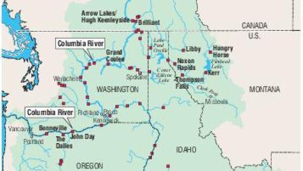 Columbia River Watershed Map Missoulian Com