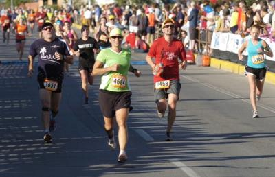 Runners participating in the Missoula Half Marathon