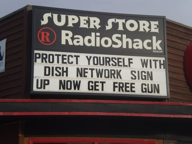 Hamilton Radio Shack offers free gun with new Dish Network service