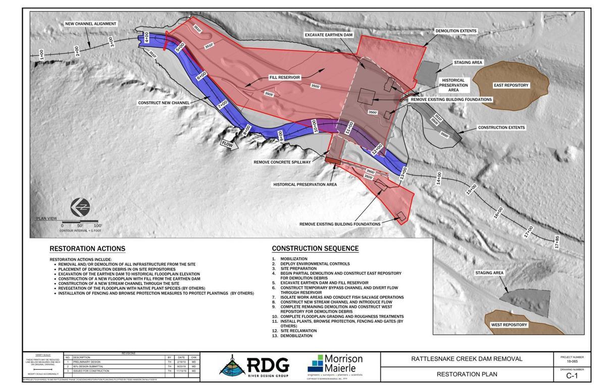 Rattlesnake dam design