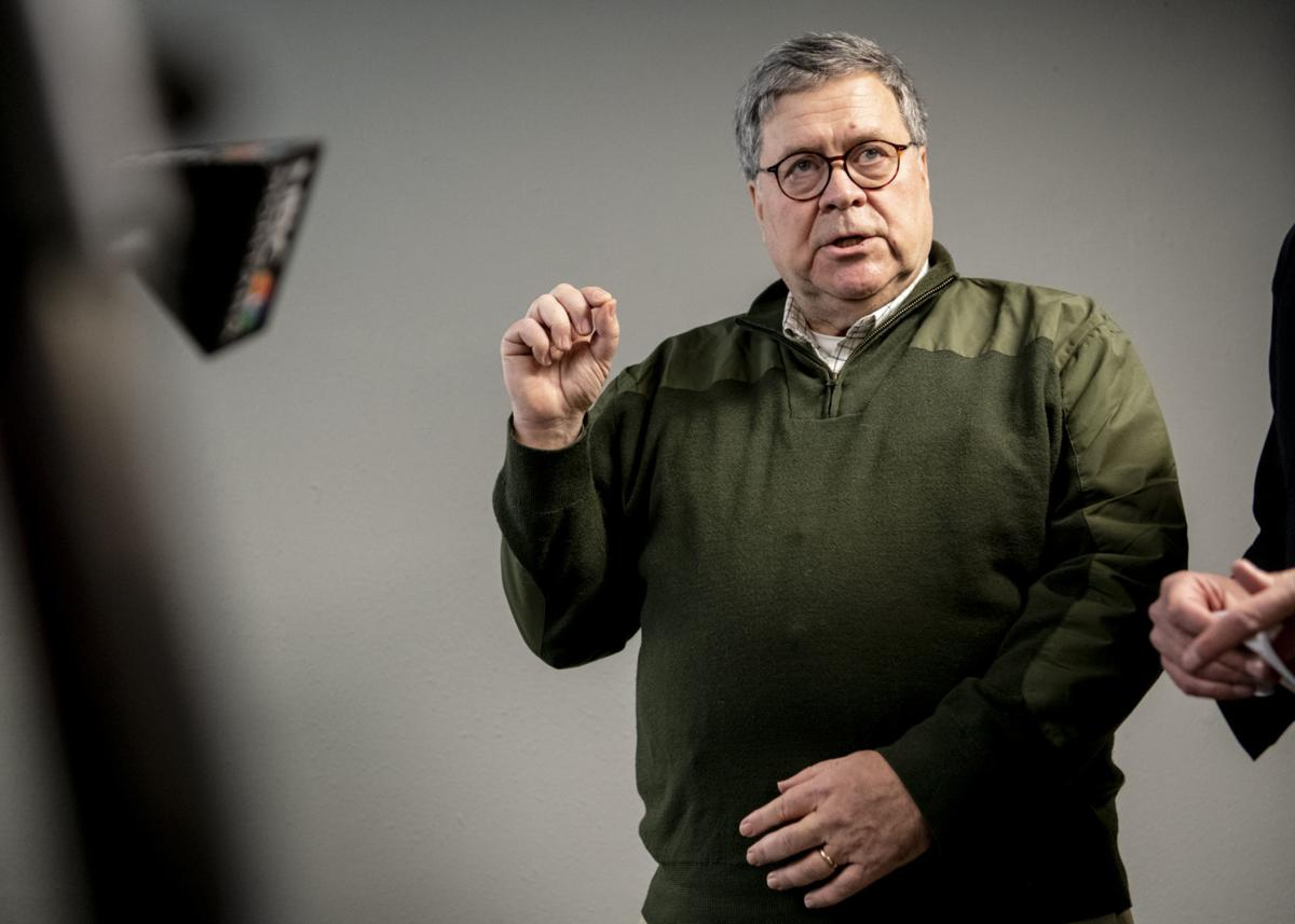 Attorney General William Barr addresses questions