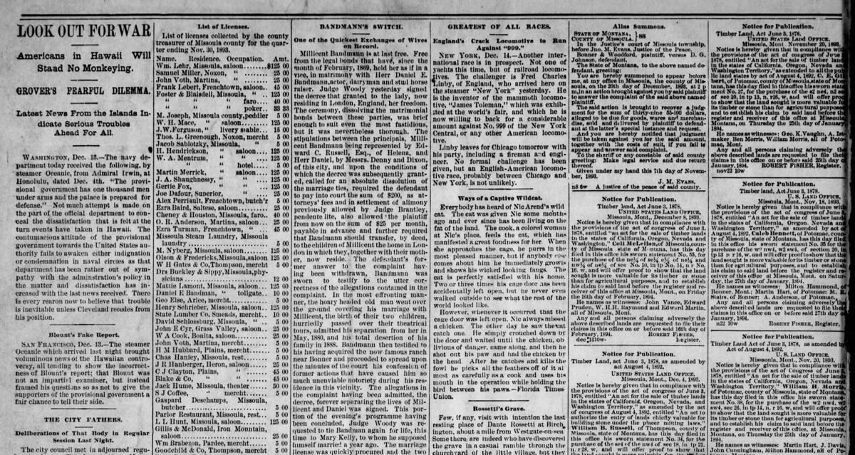 Bandmann Divorce and Marriage 1893