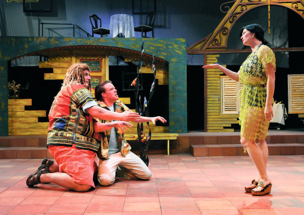 Caribbean comedy 39 um production places shakespeare s for Farcical comedy plays