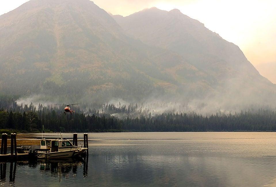 Waterton Lake fire