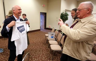 Greg Gianforte stumps in Hamilton
