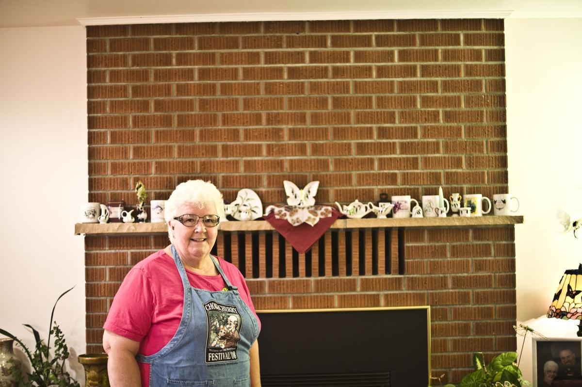 Carpenter and her china collection