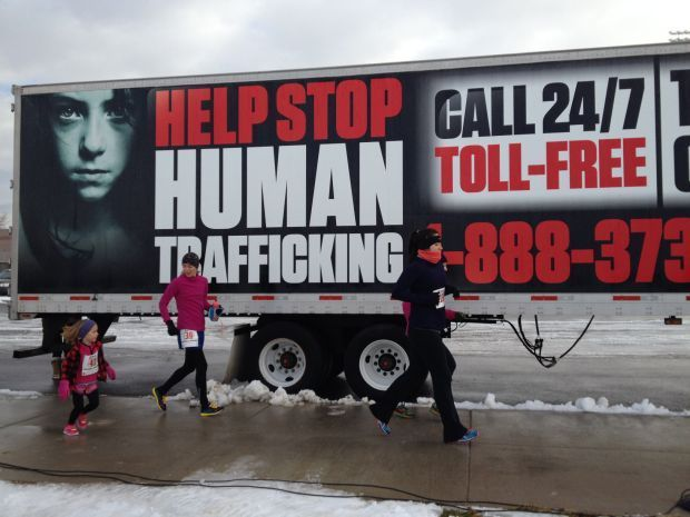 Runners support project to end human trafficking in Montana.