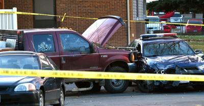 Shooting scene bullet holes