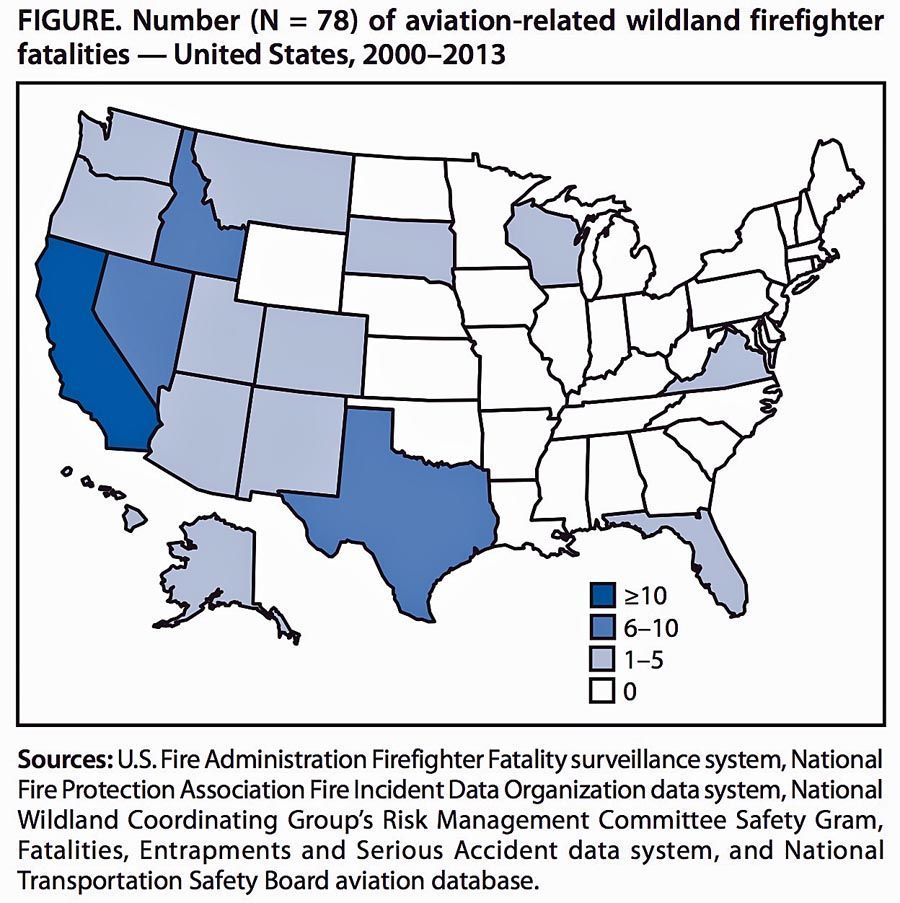 Aviation fatality map