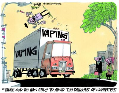 Dangers of cigarettes not avoided with vaping