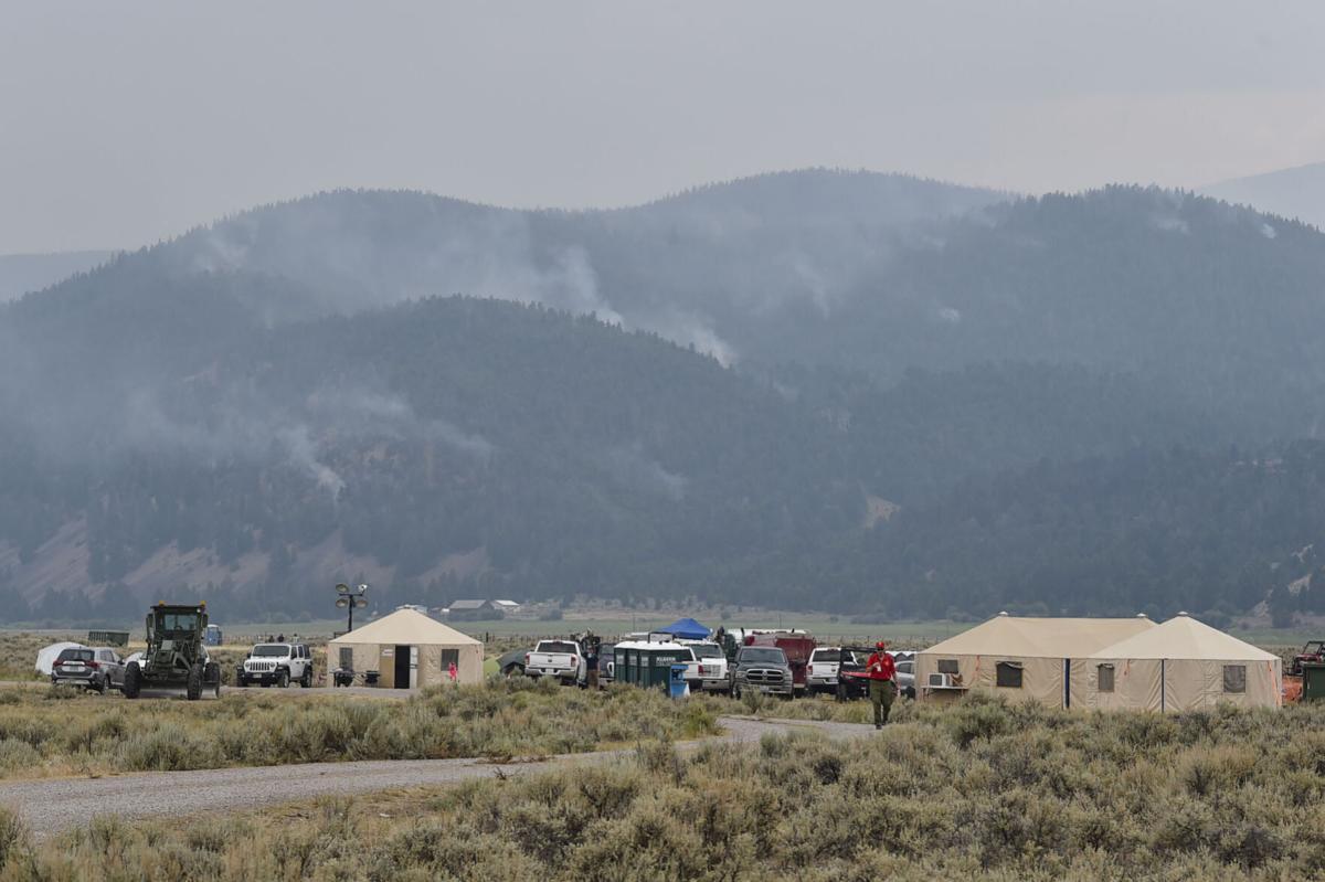 The Alder Creek Fire smolders