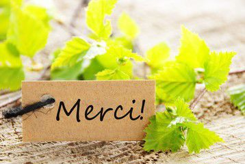 Merci French for thanks