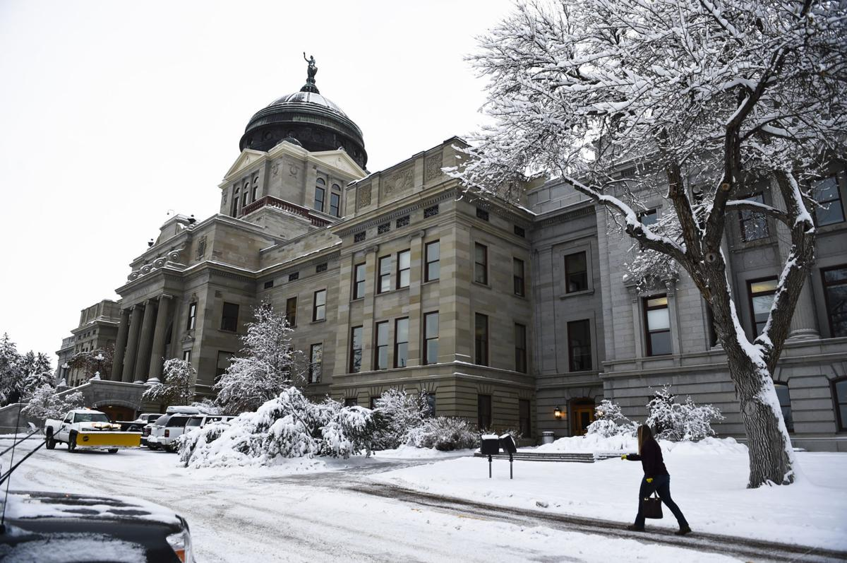 The Montana State Capitol in Helena, Mont.