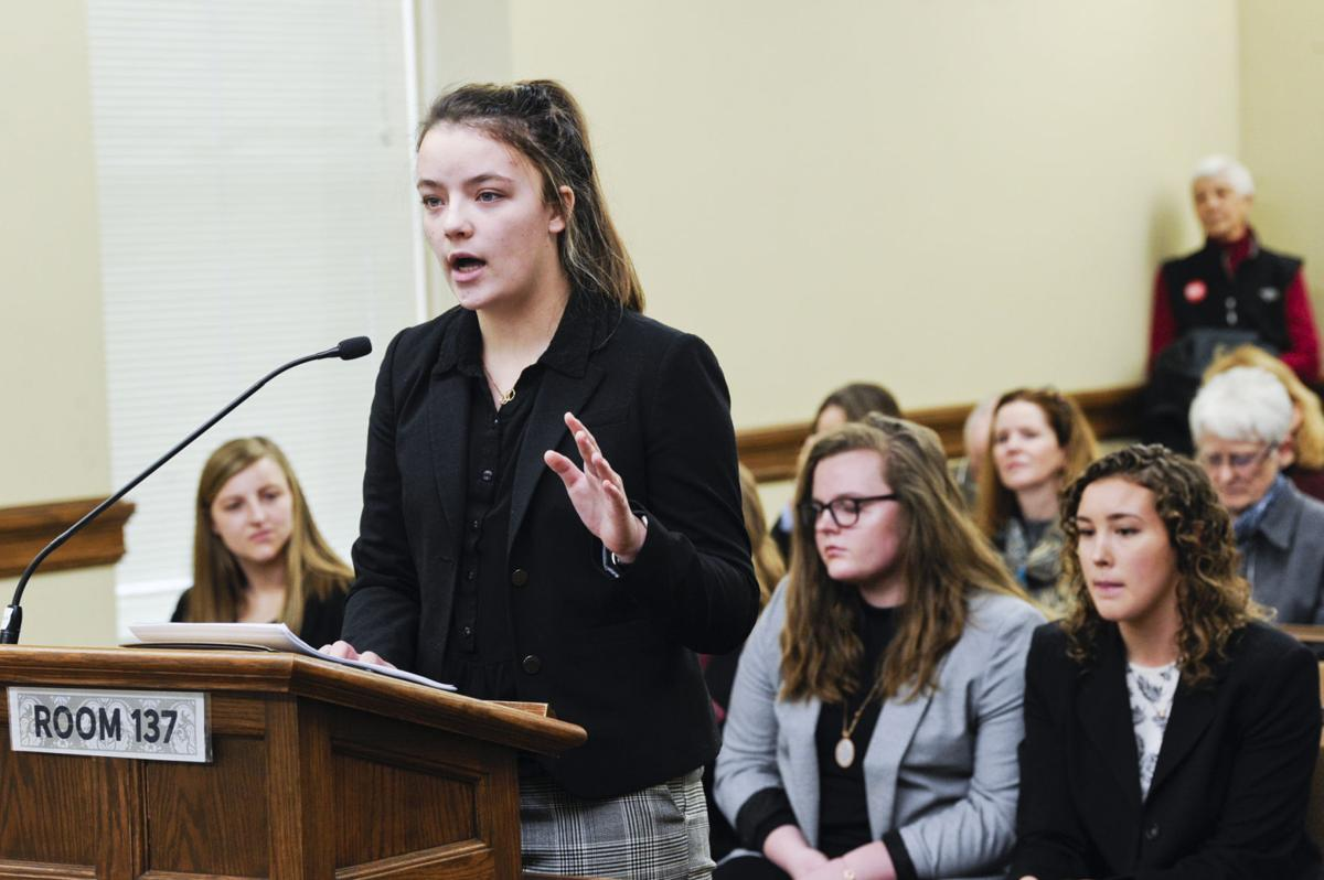 High school student Hannah Muszkiewicz testifies in support on HB477