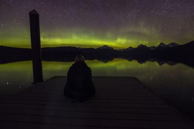 Glacier National Park aurora borealis