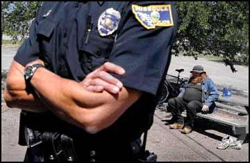 Police begin patrols downtown to curb panhandling
