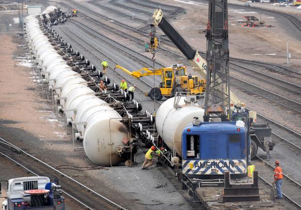 Montana Rail Link Trains Collide Tank Cars Derail In