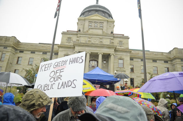 Hunters, anglers protest public land transfer