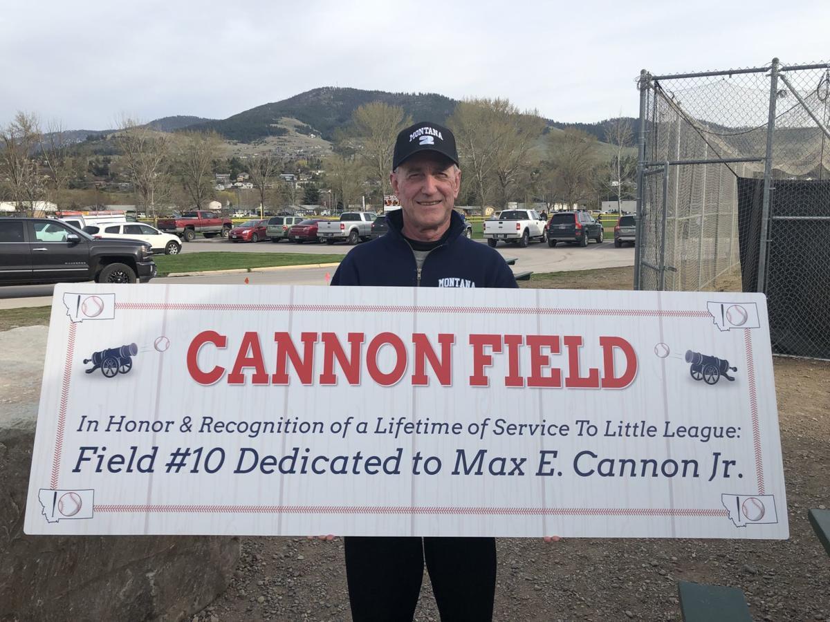Little League Max Cannon banner