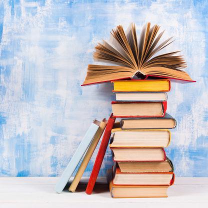 Stack of books stockimage (MIS)