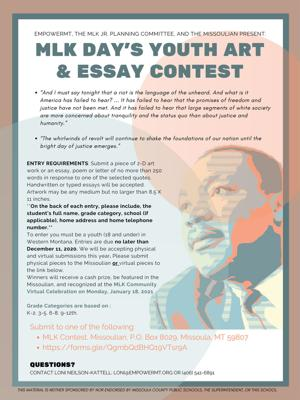 Students invited to enter MLK contest