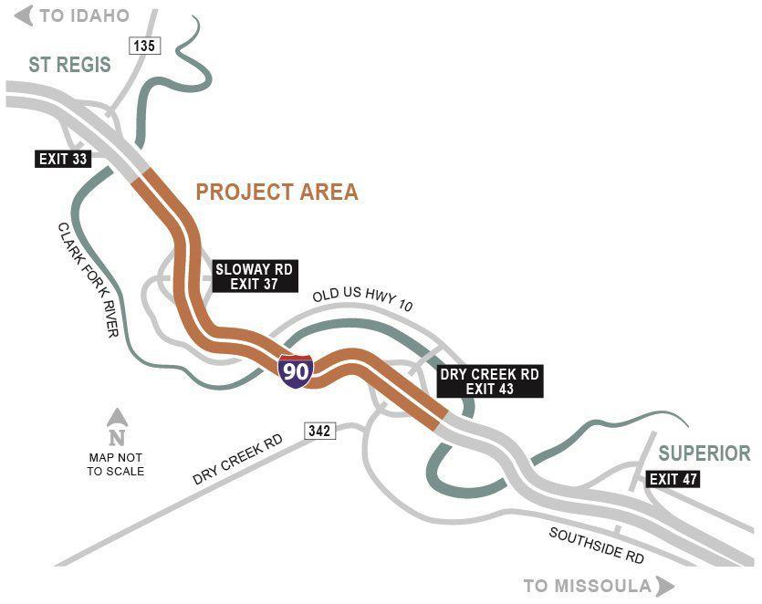 Sloway I-90 Project map