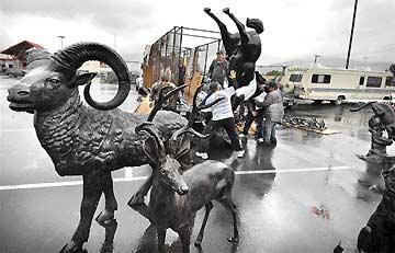 Wheeling 'n' dealing: Spring brings parking lot vendors of sculptures, rugs, trees