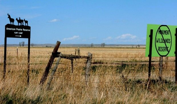 American Prairie Reserve camp
