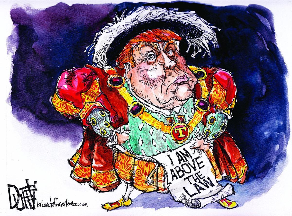 King Donald Trump above the law?