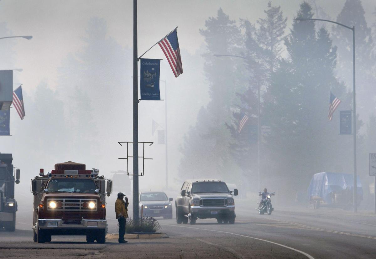 Smoke in Seeley Lake