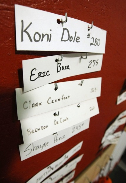 Koni Dole, 16, holds a weight lifting record