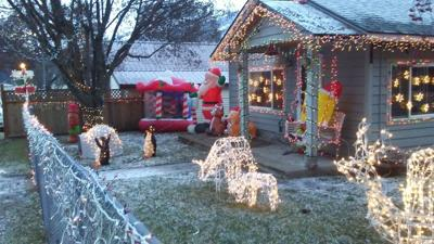 A home decorated for the holidays