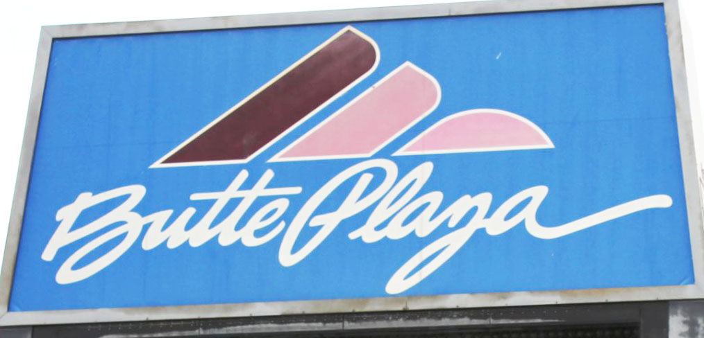 Butte Plaza Mall sign