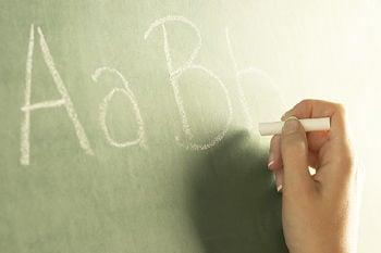 Education icon 1 chalkboard abc teacher school