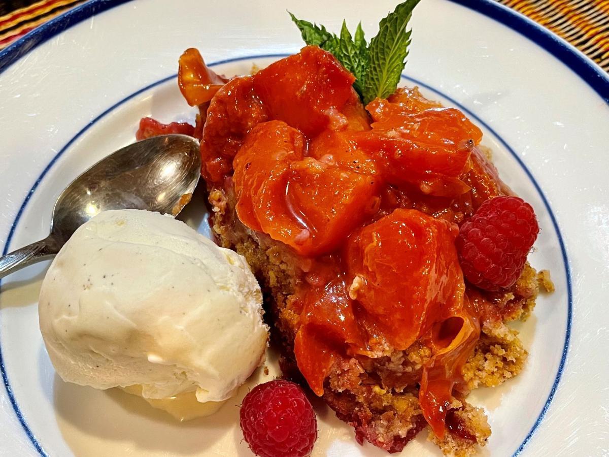 Nectarine-Raspberry crisp