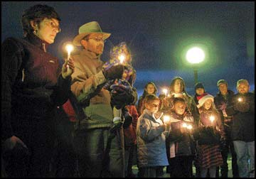 Lights in the darkness / Vigil held for Forrest Clayton Salcido