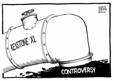 Keystone XL pipeline leaking controversy