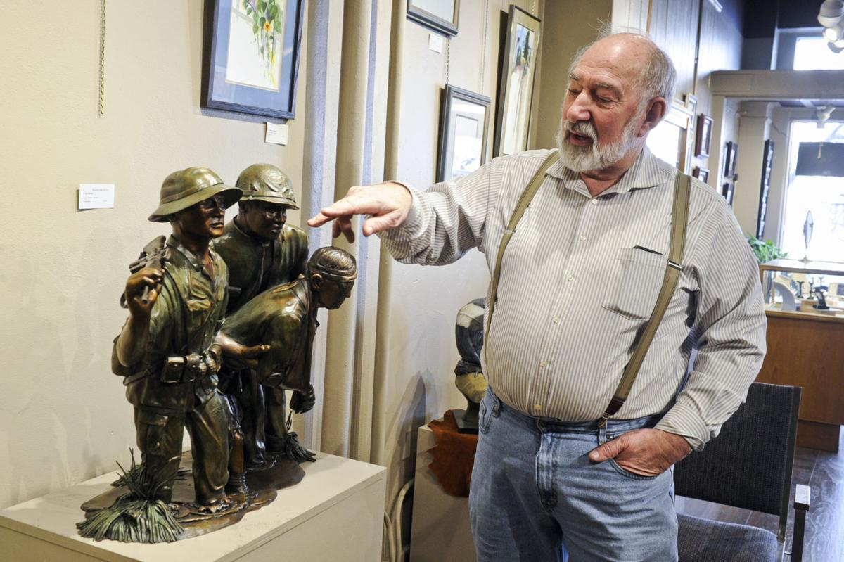 "Helena artist Lyle Schwabauer talks about his sculpture ""No Soldier Left Behind"""