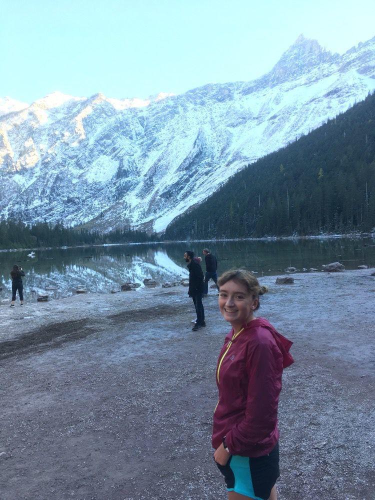 Kimberly Peacock at Avalanche Lake