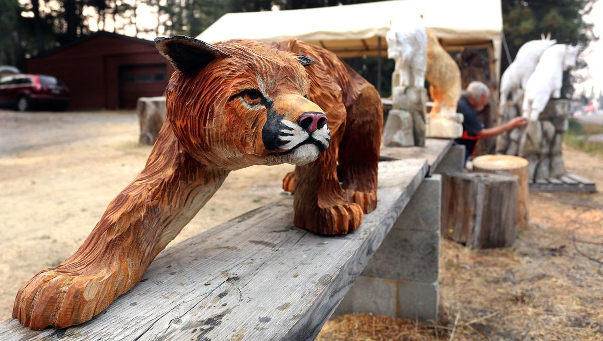 Chainsaw art bigfork artist takes on the best in