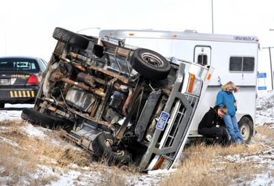 Truck crashes on icy Highway 10 West   State & Regional   missoulian com