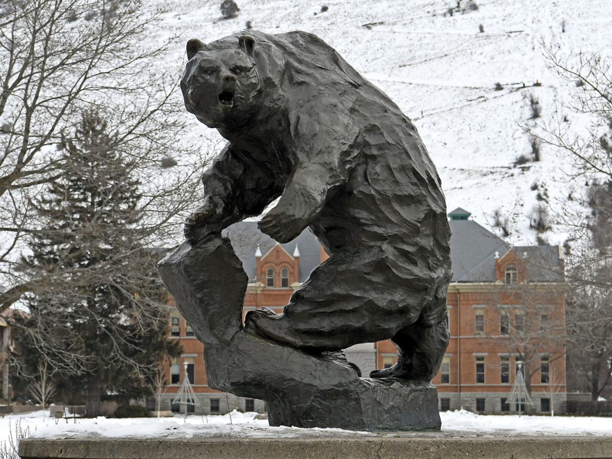 UM Grizzly Statue