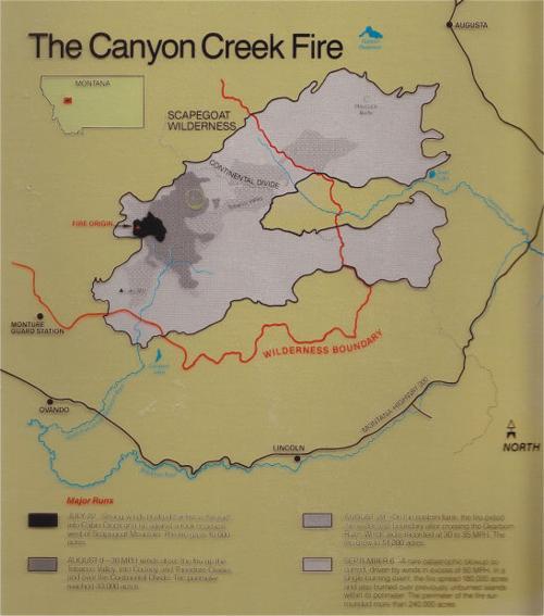 Canyon Creek Fire Map Missoulian Com