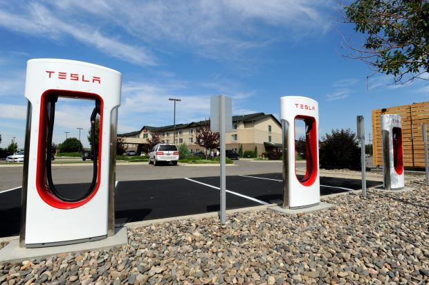 Tesla Motors Installs Charging Station For Electric Cars