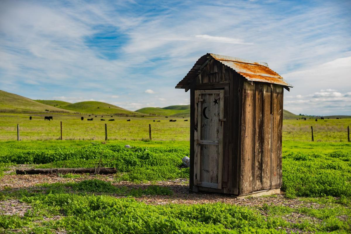 A lovely outhouse