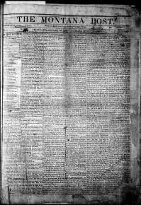 First cover of the Montana Post, Aug. 27, 1864