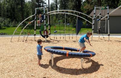 Children play in Pineview Park