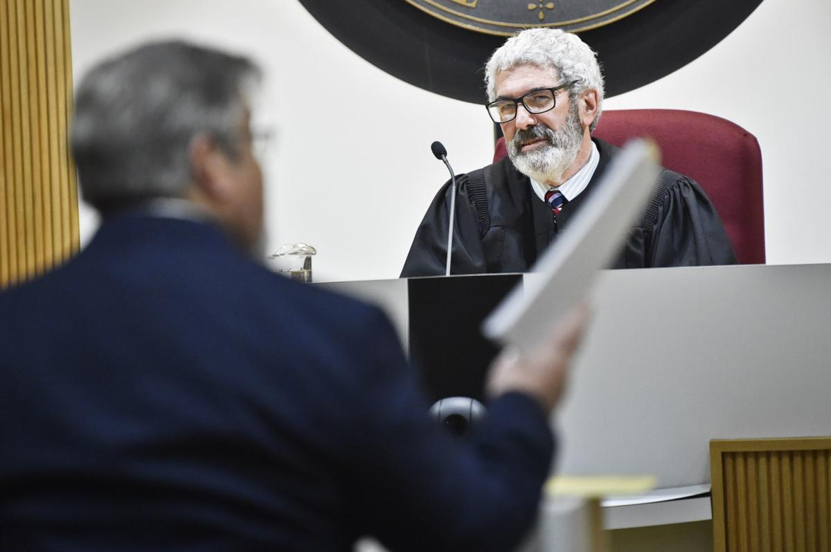 Chief Justice Mike McGrath listens to oral argument by Rob Cameron